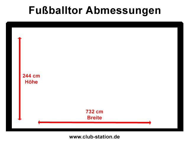 Fußballtor Abmessungen